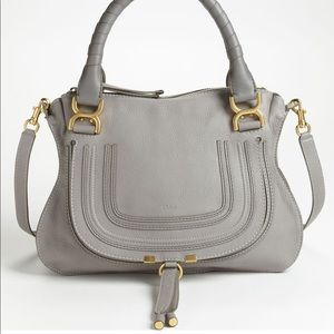 Chloe Marcie Satchel Medium in Grey